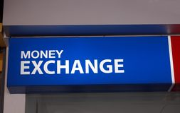 Money exchange sign Royalty Free Stock Photography