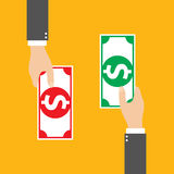 Money Exchange, vector Stock Image