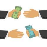 Money exchange vector illustration. Royalty Free Stock Photo