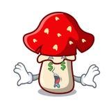 Money eye amanita mushroom mascot cartoon Stock Photography