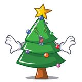 Money eye Christmas tree character cartoon. Vector illustration Royalty Free Stock Images