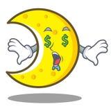 Money eye crescent moon character cartoon Stock Photo