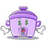Money eye rice cooker character cartoon Stock Image