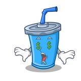 Money eye soda drink character cartoon Royalty Free Stock Photo