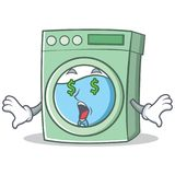 Money eye washing machine character cartoon Royalty Free Stock Photo