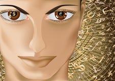 Money eyes_2 Stock Images