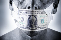 Money Face Mouth Stock Photo
