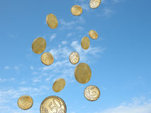 Money falling Stock Image