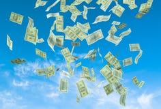 Money falling Royalty Free Stock Photos
