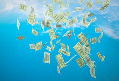 Money falling Royalty Free Stock Image