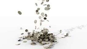 Money falling. Coins stock video footage