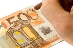 Money Falsification Stock Photos