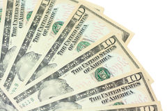 Money fan. Background of dollar bills close Royalty Free Stock Photography