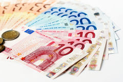 Money fan Royalty Free Stock Photo