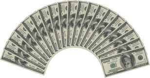 Money fan Royalty Free Stock Image