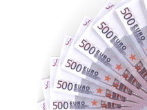 Money fan. Five hundred euros. Royalty Free Stock Image