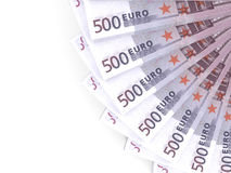 Money fan.  Five hundred euros. Stock Image