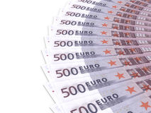 Money fan.  Five hundred euros. Stock Photos
