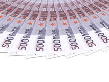 Money fan. Five hundred euros. Stock Images