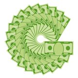Money fan image Stock Image