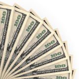 Money fan. One hundred dollars. Stock Photos