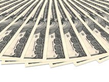 Money fan. One hundred dollars. Royalty Free Stock Image
