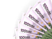 Money fan. One hundred euros. Royalty Free Stock Images