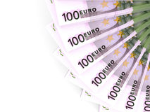Money fan. One hundred euros. Stock Photography