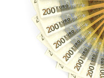 Money fan. Two hundred euros. 3D illustration vector illustration