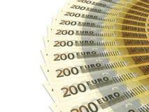 Money fan. Two hundred euros. Royalty Free Stock Photos