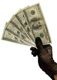 Money in a female hand Royalty Free Stock Photos