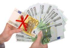 Money in female hands. Stock Image