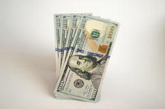 Money. A few bills on one hundred dollars Royalty Free Stock Images