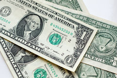 A few money dollars usa on white background Royalty Free Stock Images