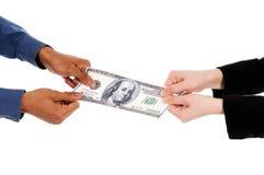 Money fight Stock Photo