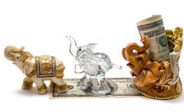 Money with a figurine Stock Photo