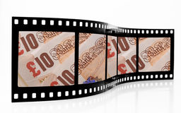 Money Film Strip. With banknotes stock image