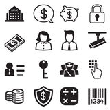 Money, finance, banking icons  set Royalty Free Stock Photography
