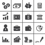 Money, finance, banking icons. Web icon symbol design illustrator Stock Images