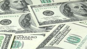 Money and finance. banknotes 100 us dollars stock video footage