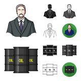 Money and Finance cartoon,black,flat,monochrome,outline icons in set collection for design. Business and Success vector. Symbol stock  illustration Stock Photography