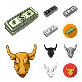 Money and Finance cartoon,black,flat,monochrome,outline icons in set collection for design. Business and Success vector. Symbol stock  illustration Royalty Free Stock Photography