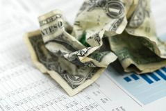 Money finance chart Stock Photography
