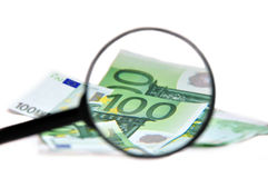 Money finance in focus Stock Photo