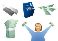 Money / Finance Icon Set. Money items or Finance Icon Set Royalty Free Stock Image