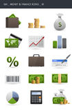 Money and finance icons _01. Money and finance icons isolated on white. Gh icons series Royalty Free Stock Image