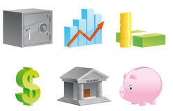 Money and finance icons Stock Image