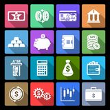Money Finance Icons royalty free illustration