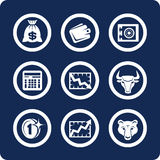 Money and Finance icons (set 10, part 1). Money and Finance 9 icons (set 10, part 1 vector illustration