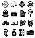 Money finance icons set. Money finance  icons set in black Royalty Free Stock Image